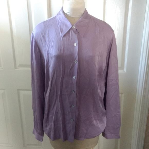 d4c1cf3831e043 Liz Claiborne Tops - Liz Claiborne Collection Lavender Silk Blouse